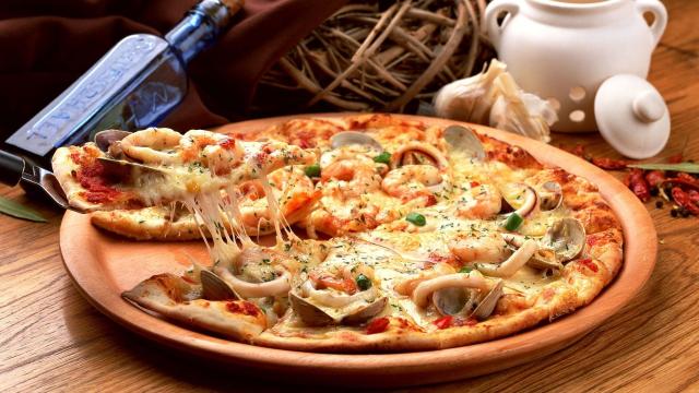 おうぎ形とピザ