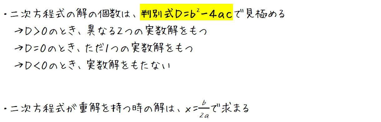 二次方程式が重解を持つ条件とその値【高校数学Ⅰ】 (攻略ポイント)