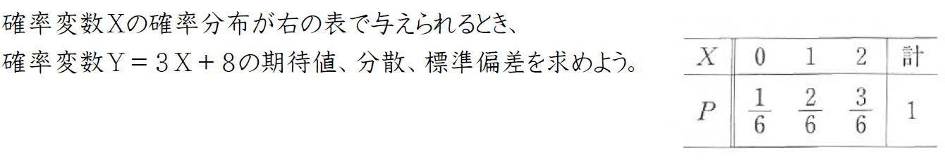 確率変数の変換【高校数学B】
