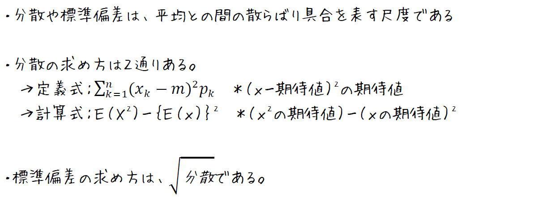 確率変数の分散と標準偏差の求め方【高校数学B】 (攻略ポイント)