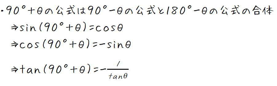 三角比90°+θの公式【高校数学Ⅰ】 (攻略ポイント)