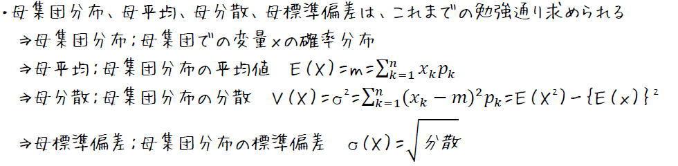 母平均と母標準偏差、求め方【高校数学B】 (攻略ポイント)