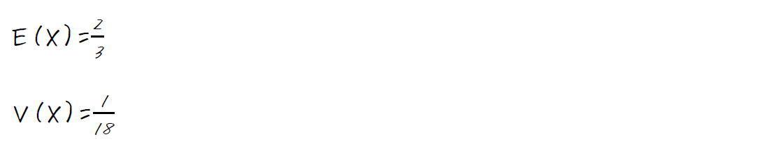 連続型確率変数の期待値と分散の求め方【高校数学B】 (答え)