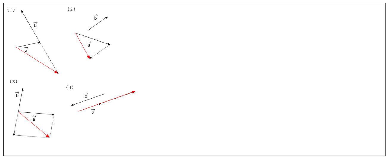 ベクトルの減法(引き算)の図示【数B】(答え)