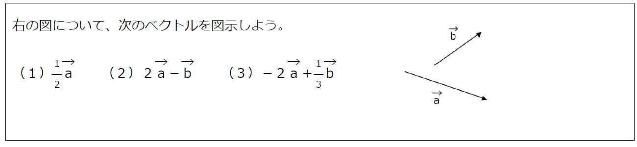 ベクトルの実数倍【数B】(問題)